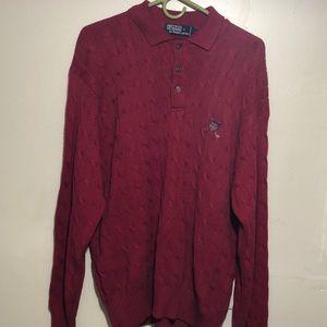 Polo sweater men's size XL